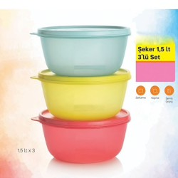 Tupperware Candy Utensils Set of 3 Colored 1.5ml