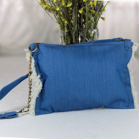 Design Tasseled Jeans Fabric Free Bag Model Bag