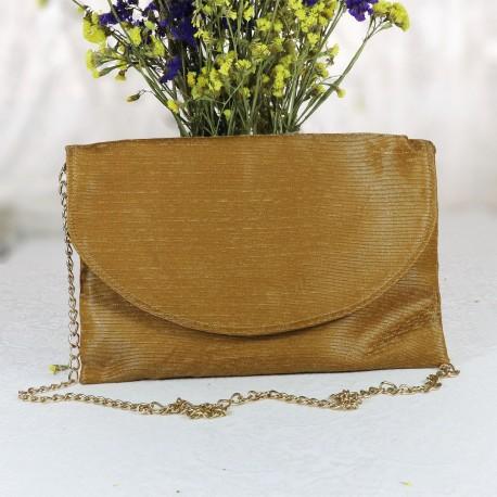 Design Mustard Colored Chain Shoulder Bag