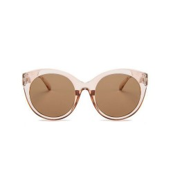 Fashion Moon Esmeralda Model Transparent Brown Round Sunglasses