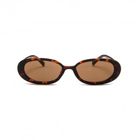 Fashion Moon Style Brown Leopard Patterned Sunglasses