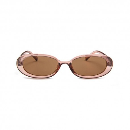 Fashion Moon Style Model Brown Transparent Sunglasses
