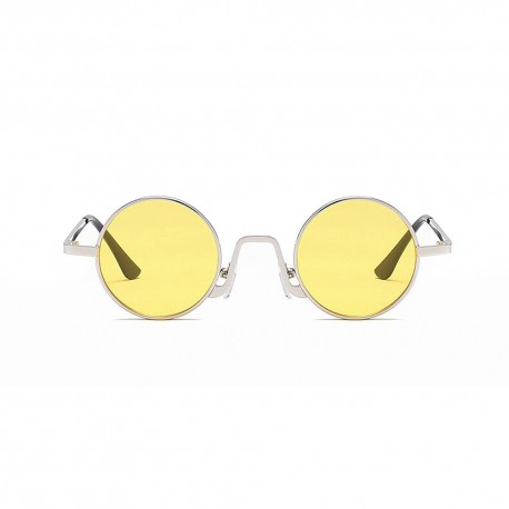 Fashion Moon Hipi Round Model Yellow Glass Sunglasses