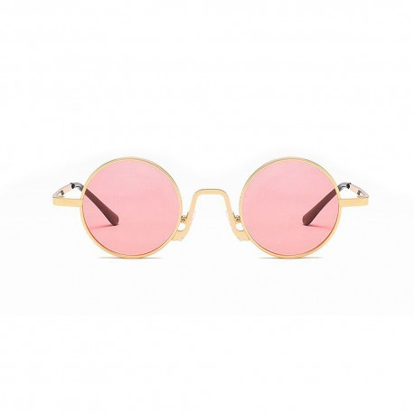 Fashion Moon Hipi Round Model Pink Glass Sunglasses