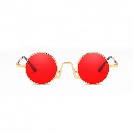 Fashion Moon Hipi Yuvarlak Model Kırmızı Camlı Güneş Gözlüğü