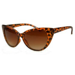 Fashion Moon Esmeralda Model Big Brown Leopard Frame Sunglasses