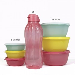 Tupperware Advantageous Favorite Multicolored Set 1