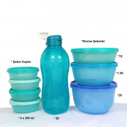Tupperware Advantageous Favorite Blue Set 2