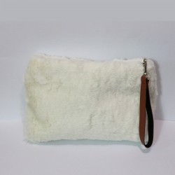 Fashion Moon White Plush Model Portfolio Case