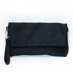 Fashion Moon Anthracite Color Suede Model Portfolio Case