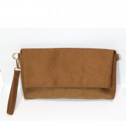 Fashion Moon Brown Suede Model Portfolio Case