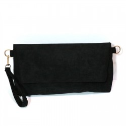 Fashion Moon Black Suede Model Portfolio Bag