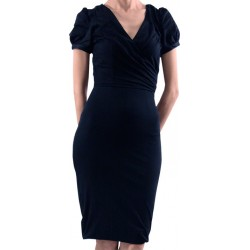 Mango Dress Neckline Croise Black