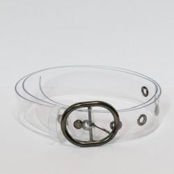 Antique Looking Buckle Transparent Belt