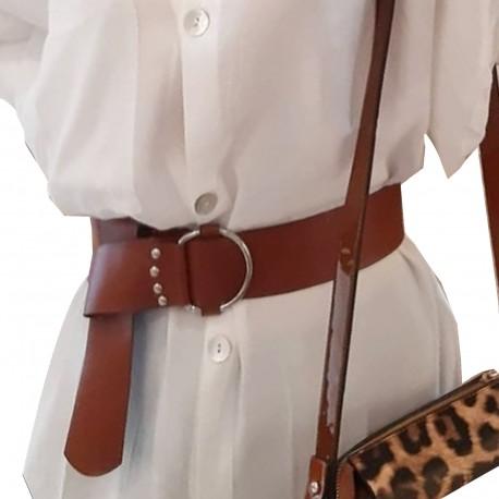 Brown Thick Binding Model Belt