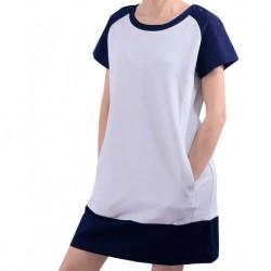 Mango Dress Howord Hidden Pockets White