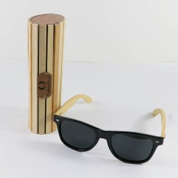 Fashion Moon Bambu Saplı Siyah Top Gun Çerçeve Güneş Gözlüğü