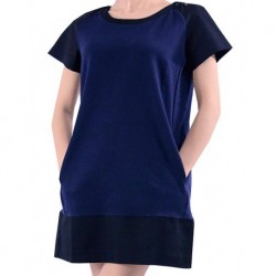 Mango Dress Howord Maggie Combed Cotton Navy