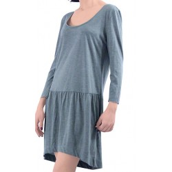 Mango Dress Maggie Combed Cotton Green
