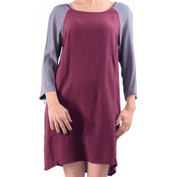 Mango Dress Orange Burgundy Casual