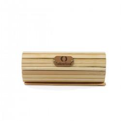 Fashion Moon Bamboo Eyewear Box Glasses Case