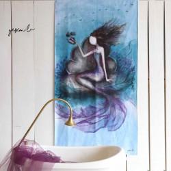 Beach Towel Mermaid Model