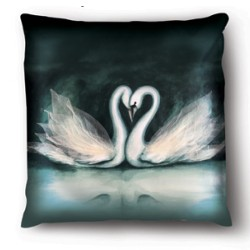 Pillow Case Model Swans Love