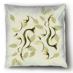 Pillow Case Pattern Leaf Green