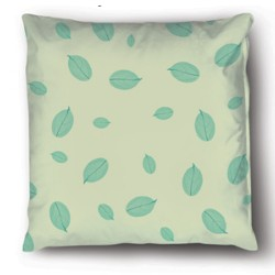 Pillow Case Pattern Green Leaf Texture