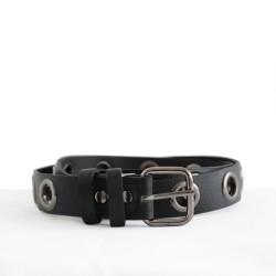 Black Color Big Studded Street Style Belt