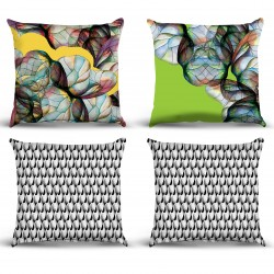 Table Chart Pillow Cases Model 05 Modern Lines Set