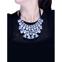 White Stone Collar Necklace