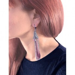 Mango Long Pink Earrings