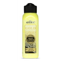 Artdeco Multisurfes Acrylic Paint For All Surfaces 401 Neon Yellow