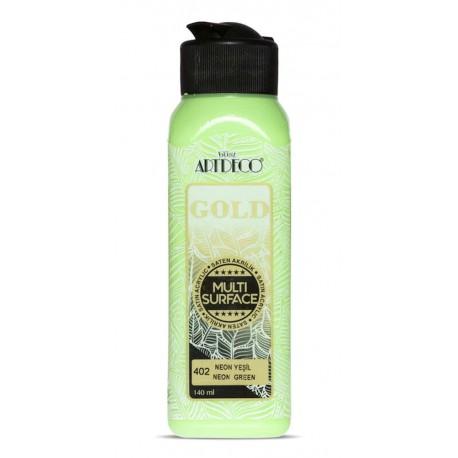 Artdeco Multisurfes Acrylic Paint For All Surfaces 402 Neon Green