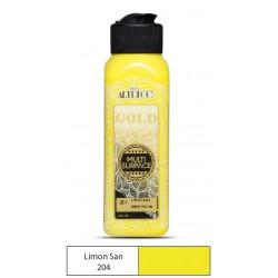 Artdeco Gold Multisurfes Acrylic Paint For All Surfaces 204 lemon Yellow