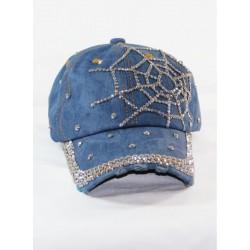 Ağ Desenli Kot Şapka