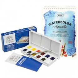 58 / 5000 Çeviri sonuçları Watercolor Winsor Newton Cotman S. Paint Pocket Draft Set
