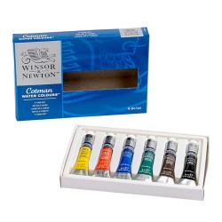 Watercolor Winsor Newton Cotman S. Paint Tube Set 6X8ml