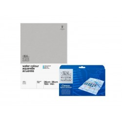 Watercolor Winsor Newton Cotman Studio Set (24rk) With Notepad Gift