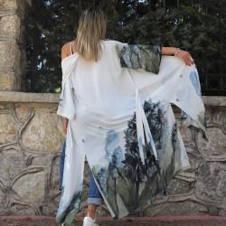 Hyacinth Model Long Kimono