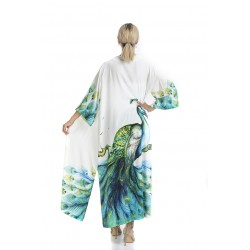 Long Kimono with Peacock Model