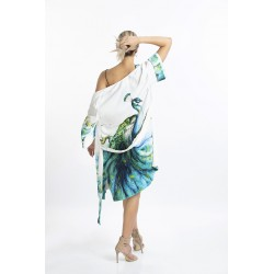 Long Kimono with Peacock Model