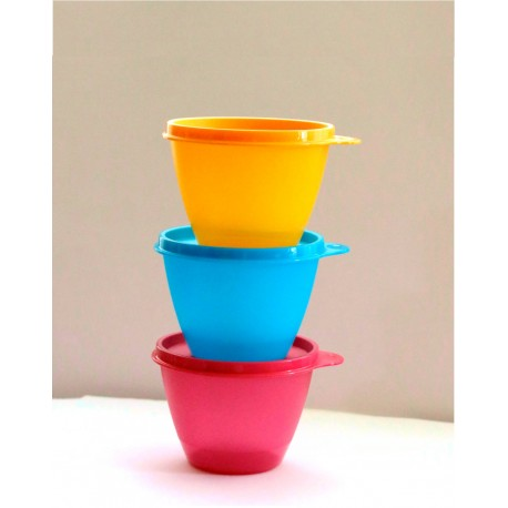 Tupperware Colored Refrigerator Containers Set of 3