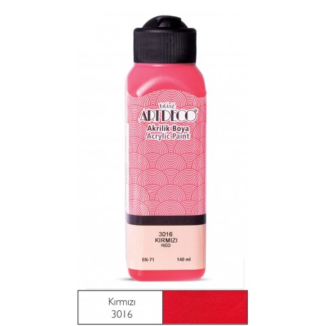 Artdeco Acrylic Paint 140ml Red Color and Shades of Red
