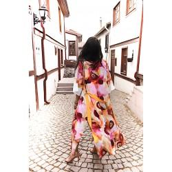 Pink Dream Model Long Kimono