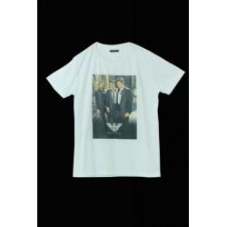 Emporio Armani Beyaz Üç Adam Tişört