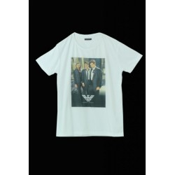 Emporio Armani White Three Men's T-Shirts