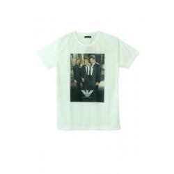 Emporio Armani Krem Üç Adam Tişört