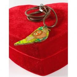 Design Wooden Wise Bird Necklace